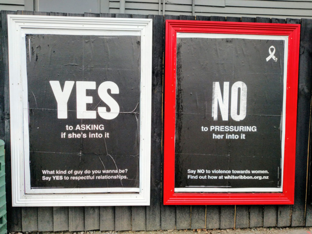 Sign of the times in Christchurch