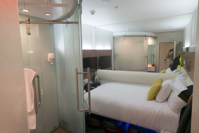Compact hotel room at Breakfree